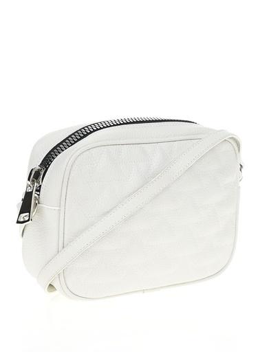 İnci Messenger / Askılı Çanta Beyaz